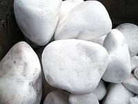 Галька мраморная снежно - белая (греческая)