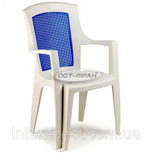 Пластиковое кресло Viola Color с синей вставкой