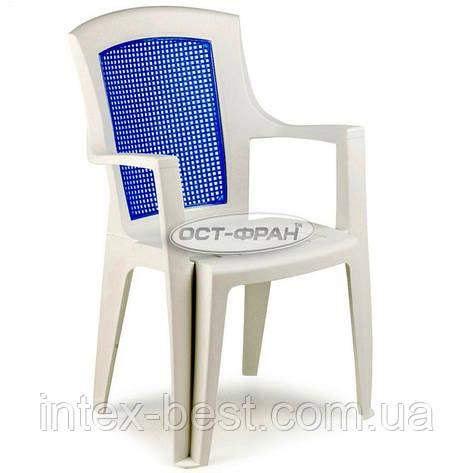 Пластиковое кресло Viola Color с синей вставкой, фото 2
