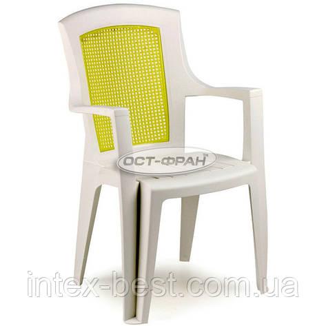 Пластиковое кресло Viola Color с желтой вставкой, фото 2