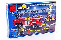 """Конструктор """"Пожарная техника"""" 607 деталей Brick-908"""