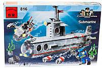 """Конструктор """"Подводная лодка"""" 382 детали Brick - 816"""