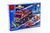 """Конструктор """"Пожарная техника"""" 420 деталей Brick - 907"""