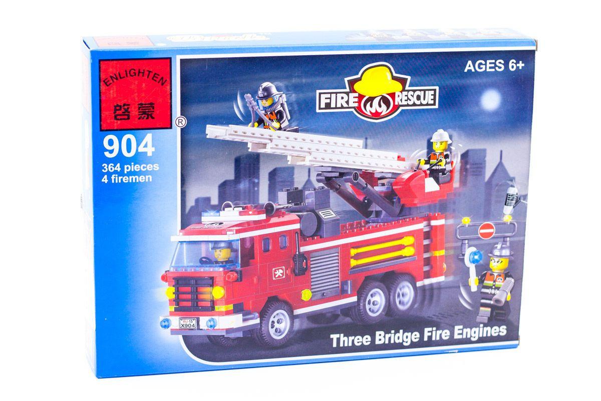 """Конструктор Brick 904 """"Пожарная машина с командой"""" 364 дет"""