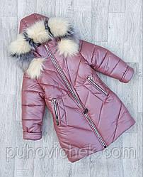 Детское зимнее пальто для девочки размеры 116-152