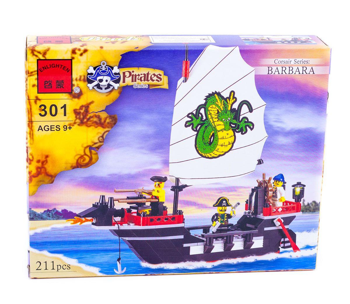 """Конструктор """"Пиратский корабль"""" 211 деталей Brick-301"""
