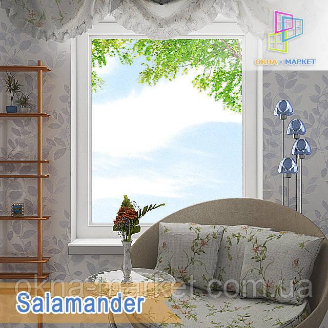 Одностворчатое глухое окно Salamander. Цена с установкой/без монтажа