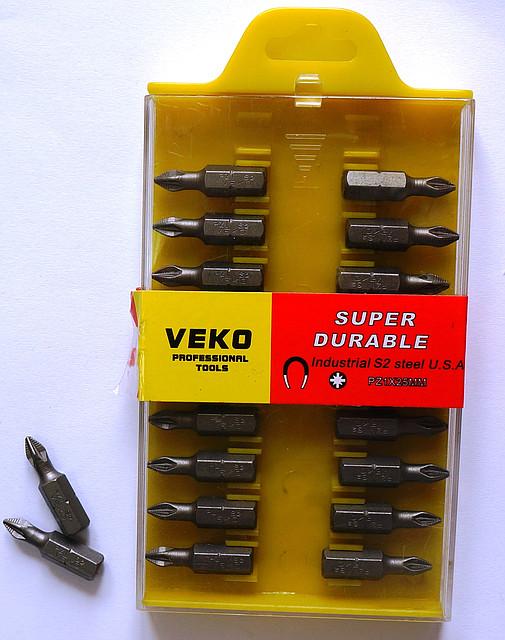 Бита VEKO PZ1*25MM (20 шт. в упаковке)