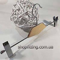 Вішалка-Щіп 35 см з світлою деревянною вставкою з потужними прищіпками для штанів і спідниць, фото 1