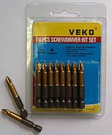 Биты для шуруповёрта VEKO PH2*50 мм  TITANIUM (10 шт. в упаковке)