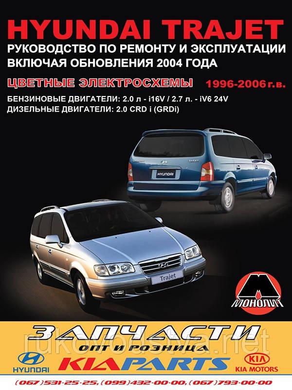 Книга Hyundai Trajet Руководство по ремонту, обслуживанию
