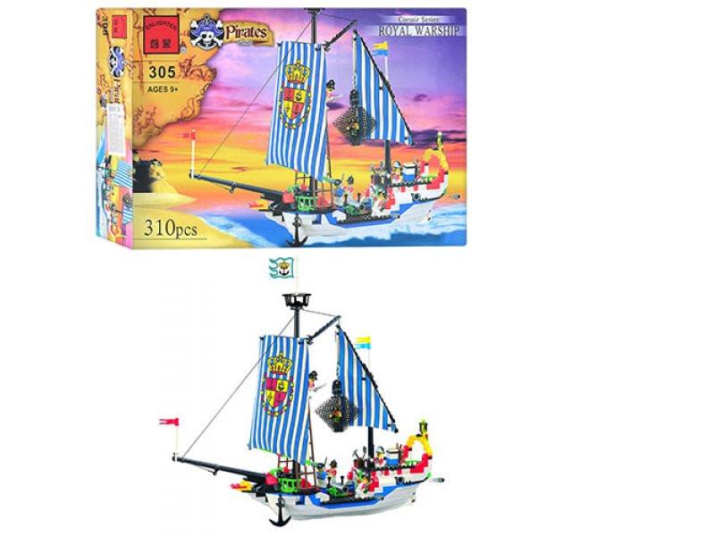 """Конструктор """"Пиратский корабль"""" 310 дет, Brick 305/298781"""