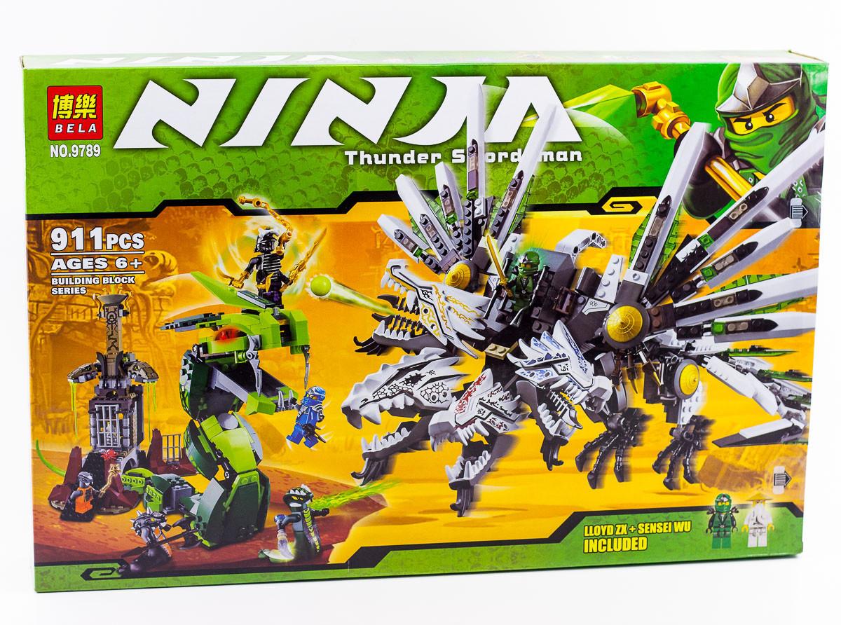 """Конструктор  Bela Ninja (аналог Lego Ninjago) 9789  """"Последняя битва"""" , 911 деталей"""
