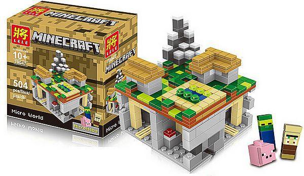 Конструктор Lele аналог Lego Minecraft \ Майнкрафт Деревня 504 детали 79047