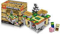 Конструктор Lele аналог Lego Minecraft \ Майнкрафт Деревня 504 детали 79047, фото 1