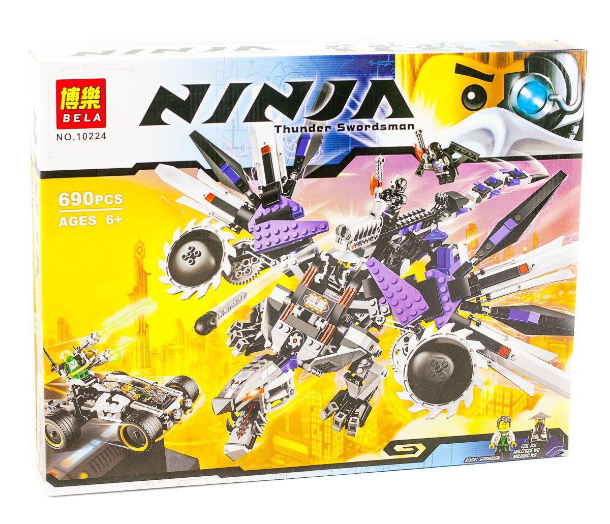 "Конструктор Bela Ninja (аналог Lego Ninjago) 10224 ""Дракон-Ниндроид"", 690 дет"