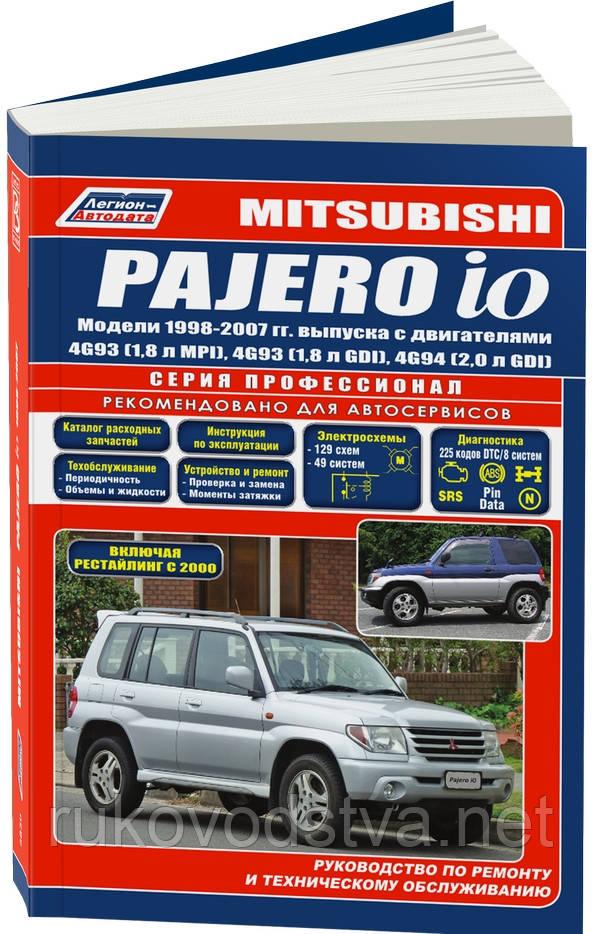 Книга Mitsubishi Pajero IO Руководство по ремонту, эксплуатации и техобслуживанию