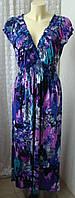 Платье женское легкое летнее яркое стрейч бренд Quiz р.50 5346
