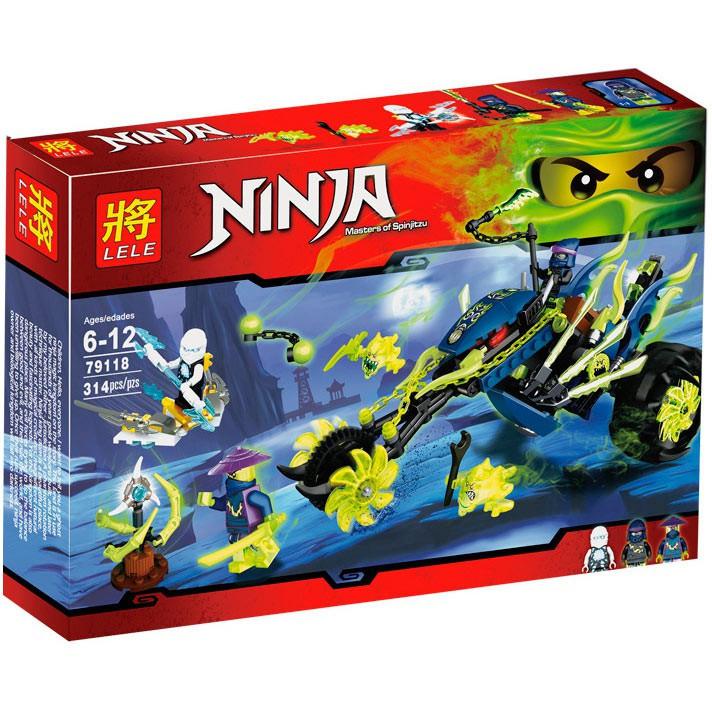 "Конструктор LELE Ninja (аналог Lego Ninjago) ""Засада на мотоцикле"" 79118 79118 (10395), 314 дет"