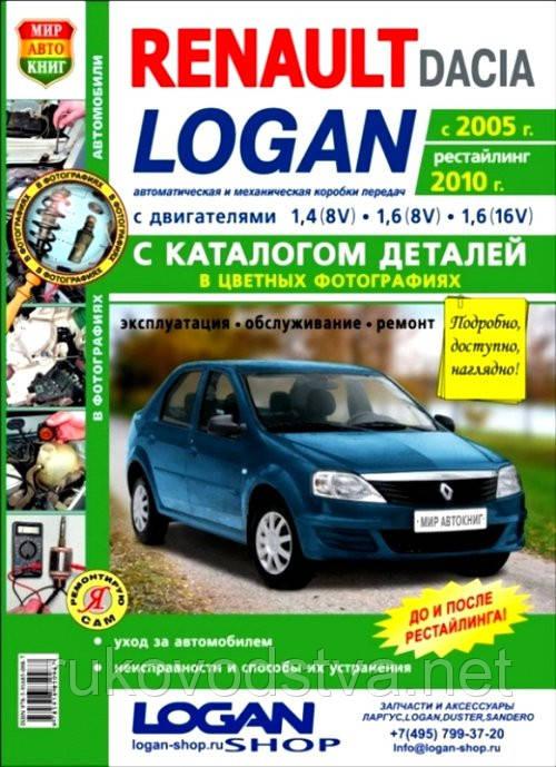 Книга Renault Logan 2005-12 бензин Эксплуатация, обслуживание, ремонт, каталог деталей