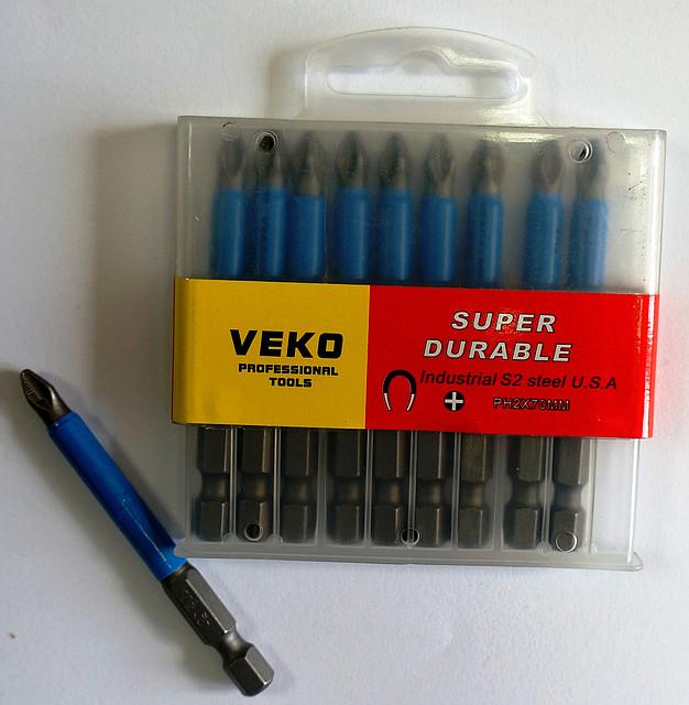 Биты VEKO PH2*70 мм (10 шт. в упаковке)