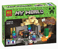 """Конструктор Minecraft Bela 10390 """"Подземелье"""" (реплика Lego 21119 Майнкрафт), 219 дет, фото 1"""