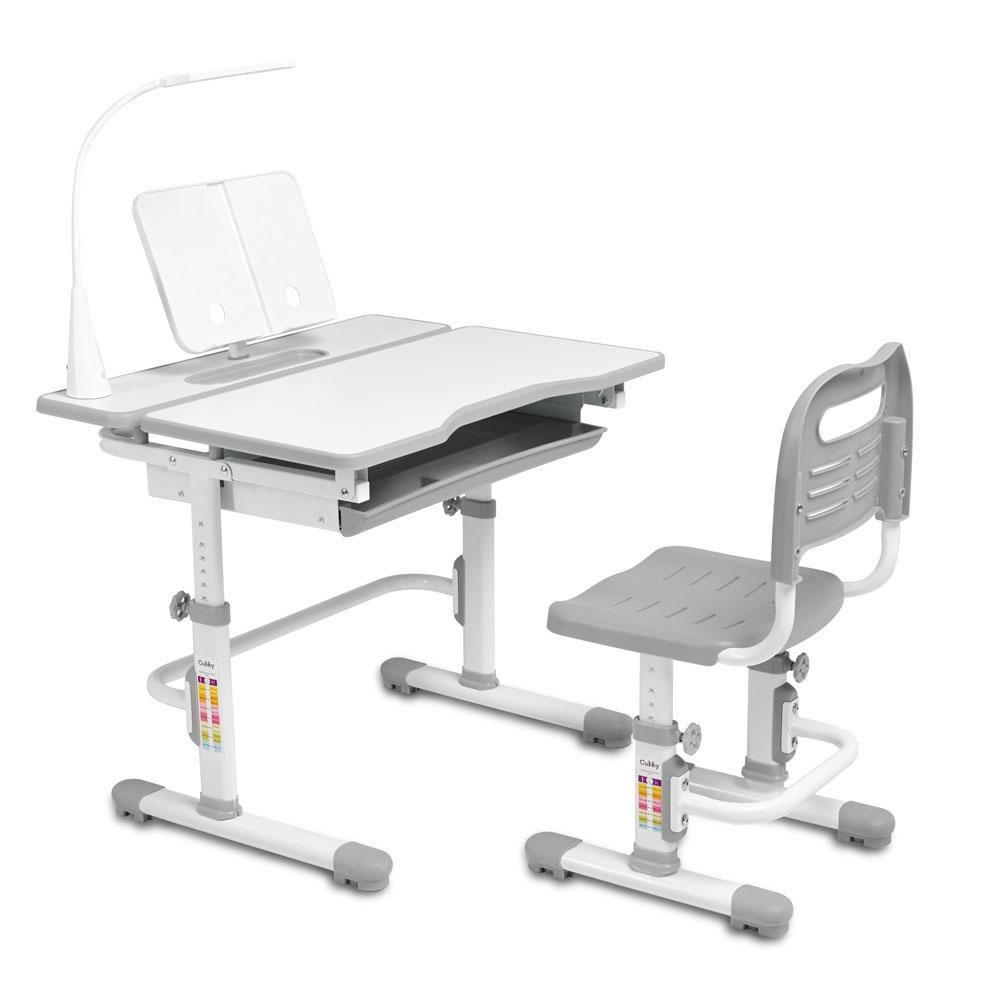 Эргономичный комплект Cubby парта и стул-трансформеры Botero Grey