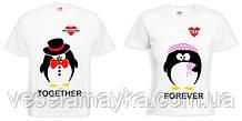 Парная футболка з пингвинами