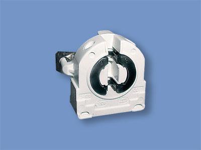 """Ламподержатель G-13  """"саморез"""" c металической пластиной. Патрон для ламп T-8 Q-1108"""