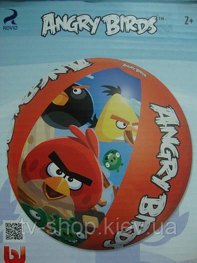 Мяч  надувной Angry birds,Дисней (5 видов)