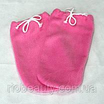 Рукавиці махровий-фліс (пара) для парафінотерапії Рукавиці для парафінотерапії, РІО, Рожевий