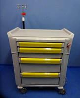 Операционная передвижная тумба с 4 яшиками для анестезии Metro Flex Emergency Cart