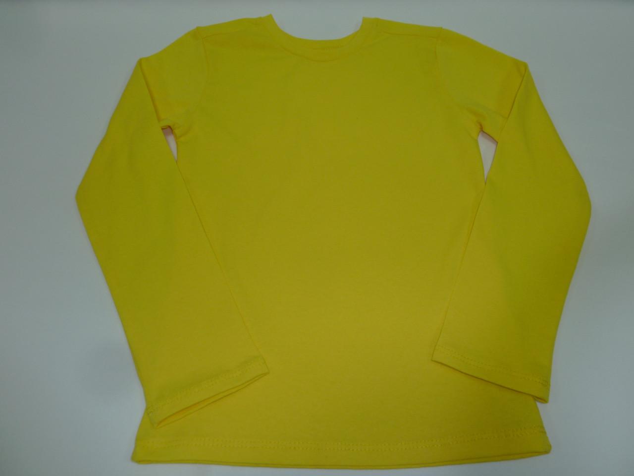 Детский реглан желтый
