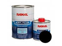 Грунт RANAL S-2000 5+1 2К акриловый черный 1л. + отвердитель 0,2л.