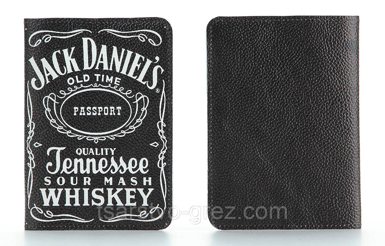 Кожаная обложка на паспорт Jack Daniels (Джек Дениелс)