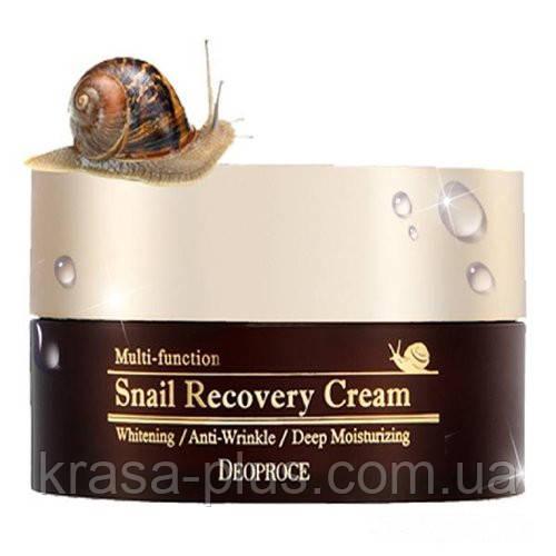 Корейский крем с фильтратом улиточной слизи Deoproce Snail Recovery Cream - 100 г
