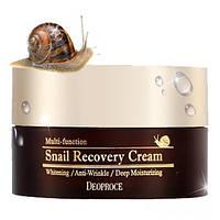 Крем с фильтратом улиточной слизи Deoproce Snail Recovery Cream - 100 г (Корея)