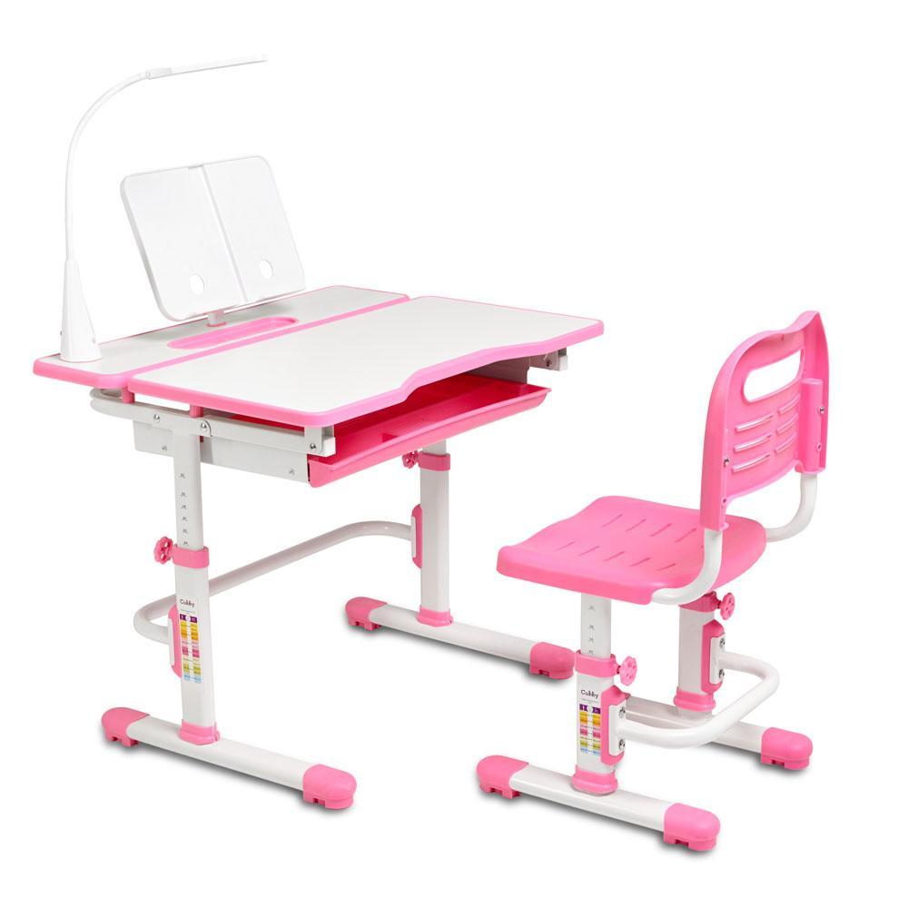 Ергономічний комплект Cubby парта і стілець-трансформери Botero Pink