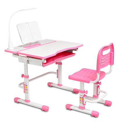 Ергономічний комплект Cubby парта і стілець-трансформери Botero Pink, фото 2