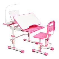Ергономічний комплект Cubby парта і стілець-трансформери Botero Pink, фото 3