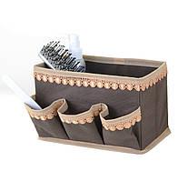 """Корзинка с кармашками для хранения мелочей """"Кружево"""" кор., Design Line 01-BR"""
