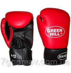 """Перчатки боксерские детские """"HAMED"""" Green Hill 6 oz красные"""