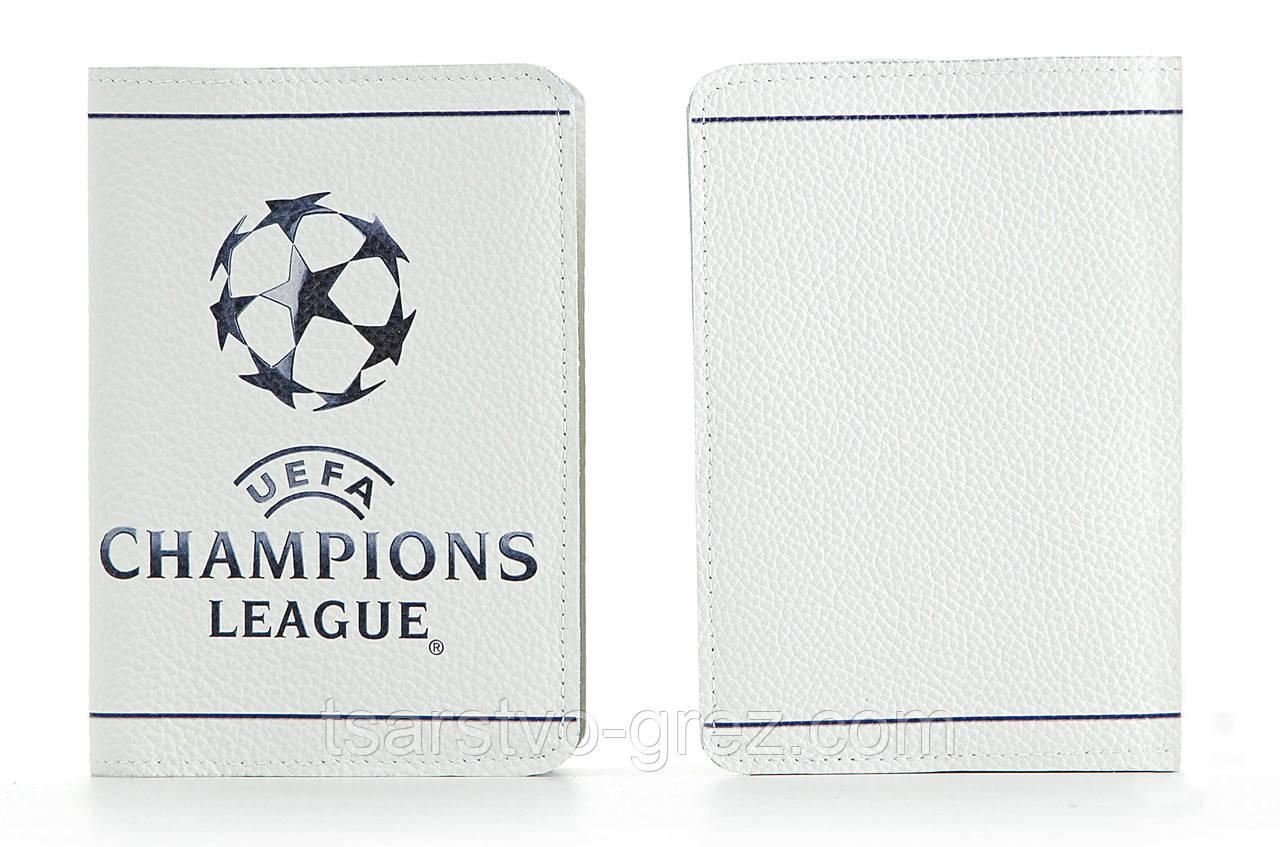 Кожаная обложка на паспорт Лига Чемпионов