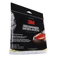 Микрофибровая желтая салфетка 3M 39016 Microfiber detail cloth clip