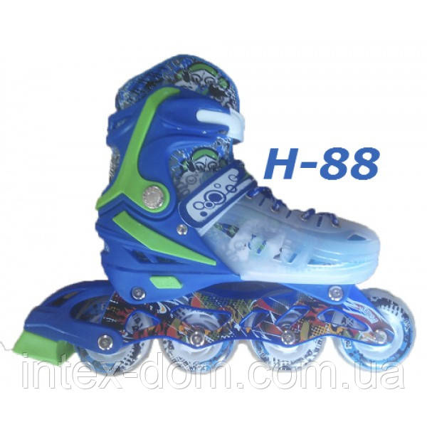 Ролики H-88 детские раздвижные размер 27-30