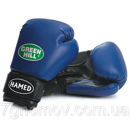 "Перчатки боксерские детские ""HAMED"" Green Hill 6 oz синие, фото 2"