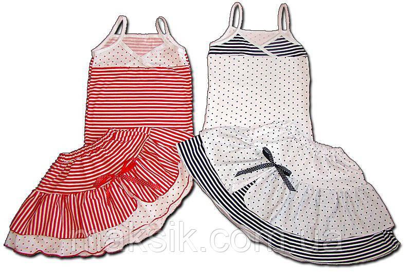 Комплект топ+юбка для девочки (92-128)