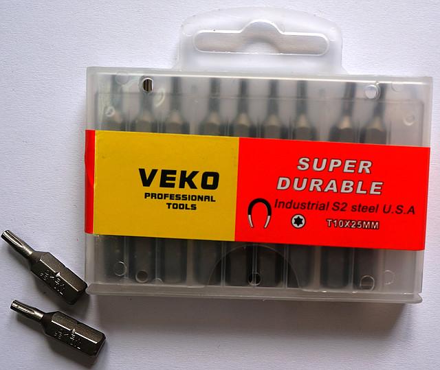 Биты VEKO T10*25 мм (20 шт. в упаковке)