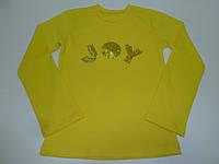 Желтый топ с пайетками JOY