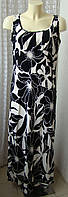Платье женское легкое летнее вискоза макси бренд Marks&Spencer р.48 5351а